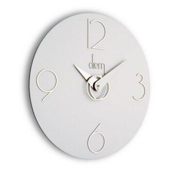 Orologio da parete design Diem di color bianco da Incantesimo Design