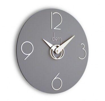 Orologio da parete di design Diem di color grigio da Incantesimo Design