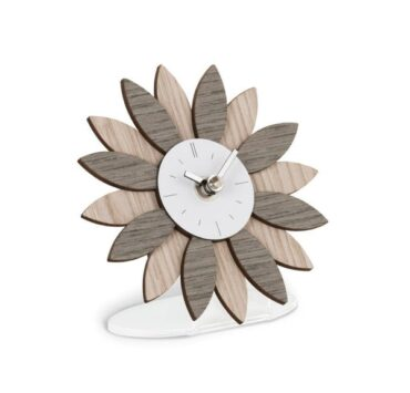 orologio da scrivania Exilis di color grigio alevè da Incantesimo Design