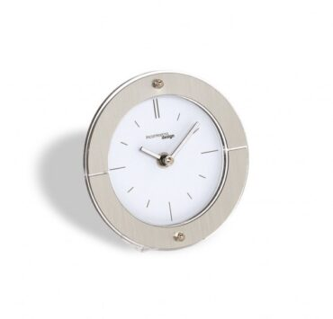 orologio da scrivania Fabula di color metal bianco da Incantesimo Design