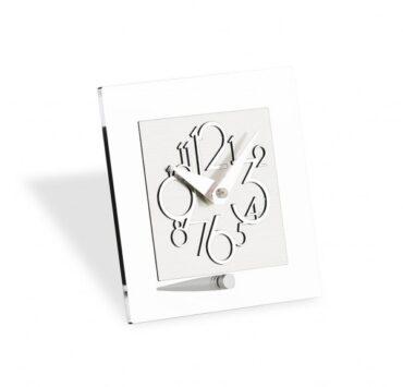 Orologio da scrivania di design Metropolis di color metal lucido da Incantesimo Design