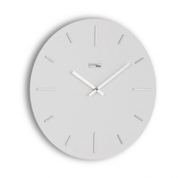 orologio da parete Omnia di color bianco da Incantesimo Design