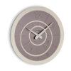 Modern wall clock Alium color grey dove and metal by Incantesimo Design
