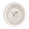 Modern wall clock Alium color vanilla and metal by Incantesimo Design