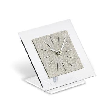 modern table clock Idilia color light fabric by Incantesimo Design