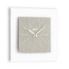 modern wall clock Idilia color ligh fabric by Incantesimo Design