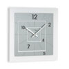 modern wall clock Nexus di color white and titanium