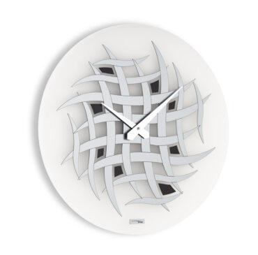 Modern wall clock Visibilium color titanium by Incantesimo Design